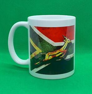 Springbok Rugby Printed Mug with World Cup Champion Years