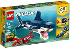 LEGO 31088 Creator 3 in 1 Deep Sea Creatures Shark, Squid, Crab, Angler Fish NEW