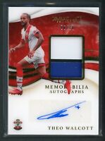 2020 THEO WALCOTT 06/10 AUTO JERSEY PATCH PANINI IMMACULATE COLLECTION AUTOGRAPH
