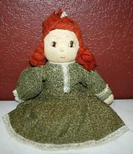 """Antique Vintage Soft Knitted Crochected Hand Made Doll 12"""" Tall Arlene Doll 103"""