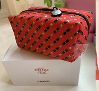 CHANEL Beauty Makeup Trousse Bag Pouch Clutch Small Size