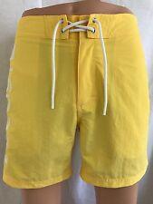New Lacoste Mens Yellow Logo Board Swim Trunks/Shorts, sizes S,M,L,XL