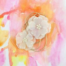 """BRAND NEW PRIMA FLOWERS """"SUNSET - DUSK"""" Glittered Ends and Pearl Centers 577797"""