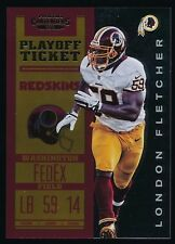 LONDON FLETCHER 2012 PANINI CONTENDERS PLAYOFF TICKET 19/99 *REDSKINS*