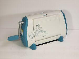 Cuttlebug White Blue Hand Crank Manual Portable Die Cutting Machine