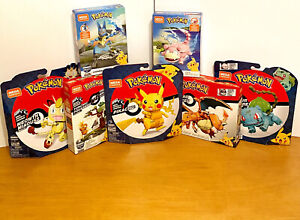Pokemon Mega Construx Wonder Builders Lot Pikachu - Charizard - Bulbasaur - More
