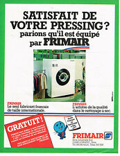 PUBLICITE ADVERTISING 064  1982  FRIMAIR   machine à laver  nettoyage à sec