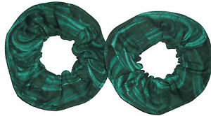 Hair Scrunchie Coral Reef Ocean Blue Green Fabric Tie Scrunchies by Sherry New