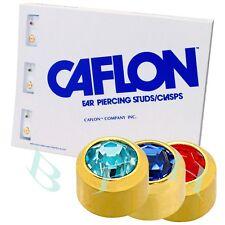 Caflon Ear Piercing Set CZ Birthstone Earrings 12 Pairs Stainless Steel Studs