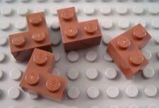 New LEGO Lot of 4 Reddish Brown 2x2 Corner Creator Modular Brick Pieces