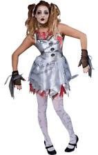 Womens Dead Doll Halloween Horror Fancy Dress Costume