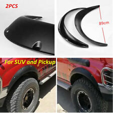 2X Universal Black Car Flexible Fender Flares Durable Polyurethane Moulding Trim