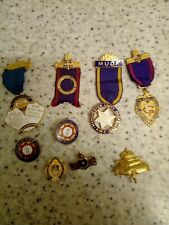 A JOB LOT 9 MANCHESTER UNITY ODDFELLOWS MEDAL JEWEL BADGE MASONIC RELATED