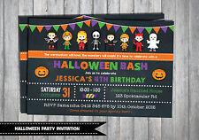 HALLOWEEN PARTY INVITATION Birthday Invite Kids Party Supplies Chalkboard Cute
