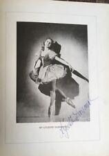 1941 SIGNATURES AUTOGRAPHES DE  LYCETTE DARSONVAL & SERGE PERETTI (DANSE, OPÉRA)