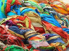 1 Skein - 40 Yards - Recycled Sari Silk Ribbon Yarn - 100% Silk - Multicolor