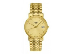 Tissot Swiss Made T-Classic Desire All Gold Plated Men's Watch T52.5.481.21
