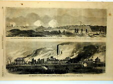 Harper's Weekly Page U.S.Civil War Colt's Armory Fire@Hartford Fort Fisher 1864