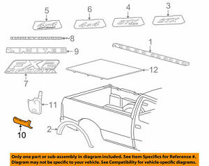 Ford OEM 2000-2006 Focus Body Side molding Rh Rear Door 5S4Z5425532AAPTM NIP