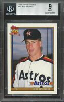 1991 topps traded #4t JEFF BAGWELL houston astros rookie card BGS 9