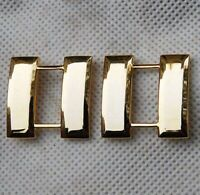 WW2 Pair U.S. US Army Officer's Captain Rank Insignia Badges Gold -US030