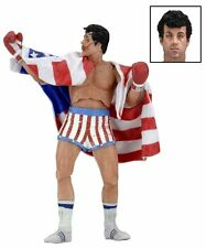Rocky IV Rocky Balboa in American Flag Trunks Series 2 Action Figure NECA