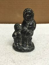 Al Wolf Parent/Child Soapstone Handmade Figurine