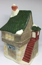 Christmas Village Accessories Small House Ceramics Green Country Home