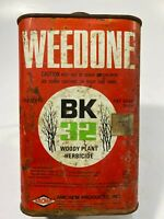 Vintage Collectible AMCHEM WEEDONE Woody Plant Herbicide 1 Quart EMPTY Tin 7.5""