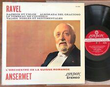 RAVEL DAPHNIS ET CHLOE - ANSERMET / LONDON CS 6210 (SXL 2273) WBg BLUEBACK LP
