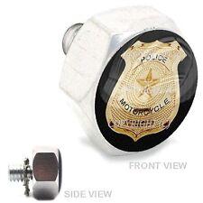 Polished  Billet Hex Air Cleaner Bolt Harley -  GOLD POLICE BADGE - 167