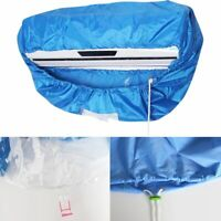 Blue Air Conditioner Cleaning Dust Washing Cover Waterproof Protector Bag SK