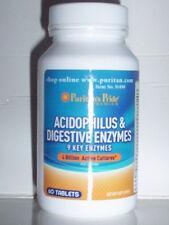 ACIDOPHILUS & ENZYMES PROTEASE AMYLASE LIPASE FIBER 4 BILLION PROBIOTICS 60 TABS
