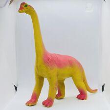 Vintage 1985 Dinosaur Toy Imperial Plastic Brontosaurus 🦕 Orange Yellow
