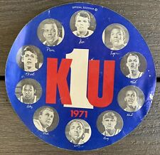 VTG 1971 University Of Kansas BASKETBALL Jayhawks KU #1 Souvenir STICKER