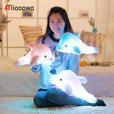 Glowing Pillow Dolphin LED Light Dolphin Cushion Luminous Plush Fluffy Toy