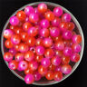 30PCS 8mm Double Color Glass Round Pearl Spacer Loose Beads Jewelry Making 27