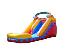 Commercial Grade 14' Rainbow Inflatable Waterslide Bounce House Jumpers