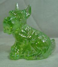 Charlie Scottie Dog Scottish Terrier Lime Light Carnival Solid Glass  11/03/2013