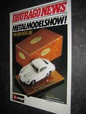 (083) Bburago burago NEWS Katalog Prospekt 1990 GERD HERBERTZ catalogue brochure
