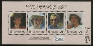 PITCAIRN ISLANDS, SC 487, 1998 Princess Diana Memorial souvenir sheet. MNH.