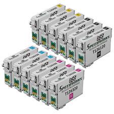 Reman Ink for Epson T126 126 Black Cyan Magenta Yellow Set of 12 WorkForce 635