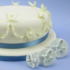 3pcs Dove Shape Cake Decoration Fondant Lacing Cutters Tools Mould Flower
