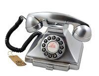 GPO 1929S Classic Carrington Vintage/Retro Push Button Telephone In Chrome (NEW)