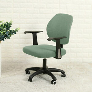 Split Office Chair Cover Stretch Computer Desk Task Seat Covers Rotat Slipcover