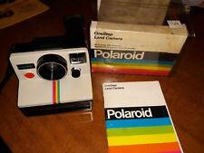 Vintage Polaroid Land Camera One Step, SX-70 Film, Rainbow Stripe, UnTested