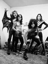Kiss 8x10 Photo Paul Gene Ace Peter Black Diamond Shoot Black And White
