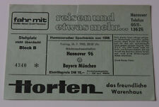 Ticket for collectors Hannover 96 - FC Bayern Munchen Germany 1985