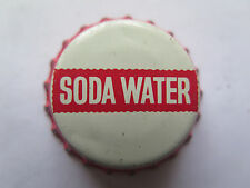 CROWN SEAL BOTTLE CAP SODA WATER USED WITH NO BRAND NAME c1970