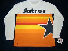 NWT Genuine Merchandise Houston Astros Retro Rainbow Mens Long Sleeve Shirt L